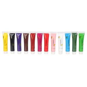 12 Color Pro 3d Nail Art Design Acrylic Gel Paint Painting Tube Pigment Set