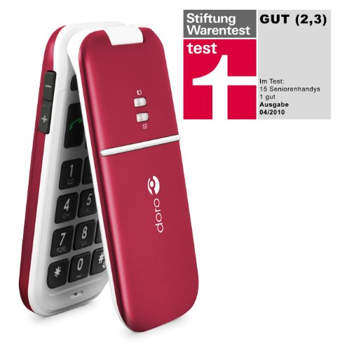 Doro PhoneEasy 410gsm (burgund-rot) Handy, gro&#223;e Tasten