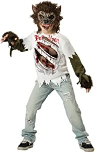 Incharacter In Character Costumes, Llc Boys 8-20 Werewolf Mask And Shirt Set, Multi Color, 8