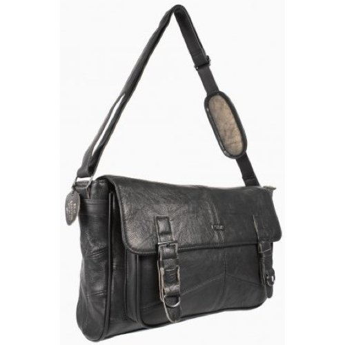 Ladies Soft Leather Satchel Handbag / Shoulder