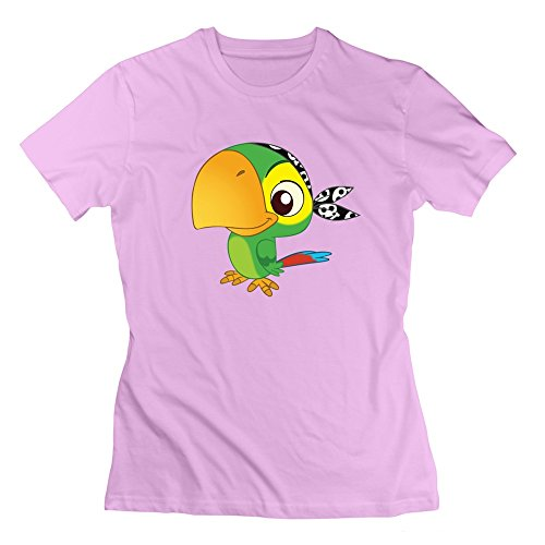 Jake And The Never Land Pirates Cute Skully Tshirts Pink For Womens (Peter Pan Pillow Pet compare prices)