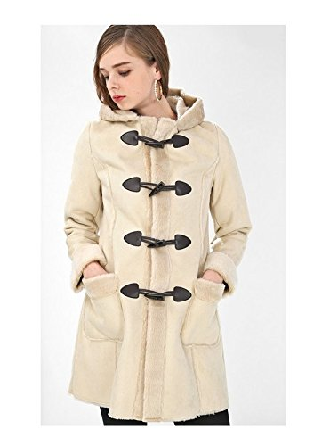 Amazon.co.jp: (プレフェリール) PREFERIR フェイク ムートン ダッフルコート L アイボリーベージュ: 服&ファッション小物通販