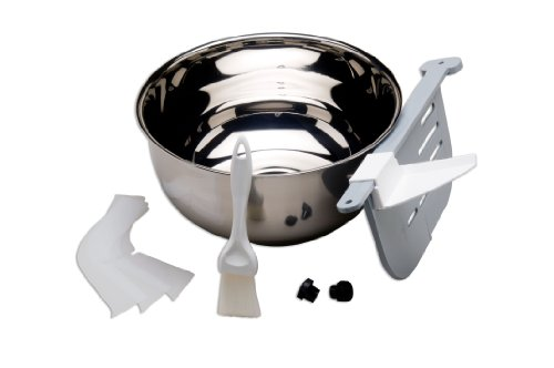 ChocoVision C5018 Holey Machine Accessory Kit for Revolation X3210 and Delta Chocolate Tempering Machines, Includes Replacement Bowl, Holey Baffle, Baffle Clip and Scrapers