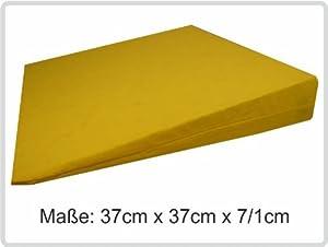 Orthopädisches Keilkissen Kissen Sitzkissen Sitzkeilkissen Sitzkissen Sitzkeil mit 100 % Baumwollbezug! *Top-Qualität zum Top-Preis* (gelb)