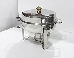 Akhand Jyoti Cheafing Dish Round Lift Top 6 Lit. Cap.