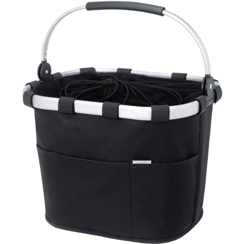 DeLux Panier pour vélo sans Klickfix Noir noir taille unique