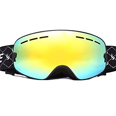 Benice Snow Goggle with Mirror coating Anti-Fog and UV Protection Lens +Free Super quality EVA Protection Box