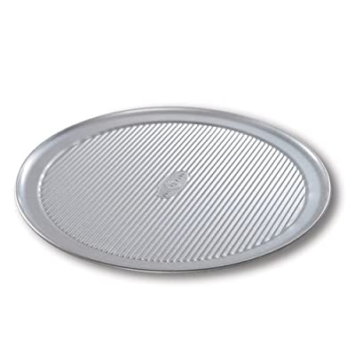 USA Pan Aluminized Steel Pizza Pan with Americoat, Set of 2