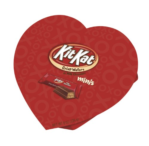 Kit Kat Valentine's Miniatures, 8-Ounce Heart Boxes (Pack of 4)
