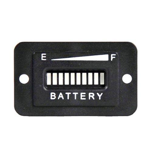 Towall Useful Rectangle 12V-24V Led Digital Battery State Charge Indicator Meter Gauge