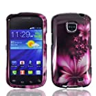 Samsung Feather Flower Faceplate Hard Phone Case Cover for Straight Talk Samsung Galaxy Proclaim 720C SCH-S720C