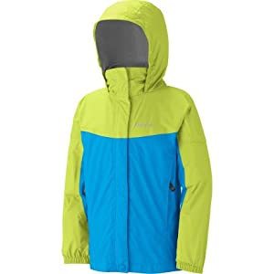 Marmot Girls' Precip Jacket Green Envy / Leaf Medium