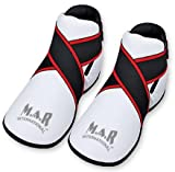 M.A.R International Ltd Semi Contact Foot Protector Kick Boots Martial Arts Karate Taekwondo Boxing Kickboxing Thai Boxing Mma Muay Thai White X-Large