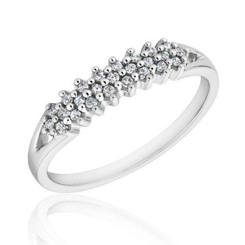 Diamond Pyramid Fashion Ring 1/7ctw - Size 7