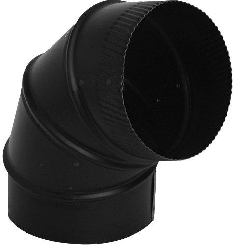 Speedi-Products SP-24BE90 06 6-Inch Diameter 24-Gauge Black 90-Degree Adjustable Elbow
