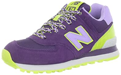 New Balance Women's WL574 BFF Pack Sneaker,Purple/Yellow,12 B US