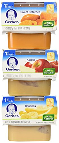 Gerber 1st Foods Assorted Fruits and Vegetables, 18 Value Pack, 2.8 LBS - 1