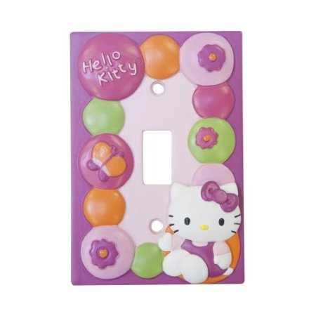 Lambs & Ivy Hello Kitty Garden Switch Plate, Pink front-822686