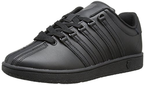 K-Swiss Classic Vintage GS Tennis Shoe (Big Kid),Black/Black,6 M US Big Kid