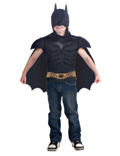 Kids-Costume Batman Muscle Shirt With Cape Child Costume Halloween Costume