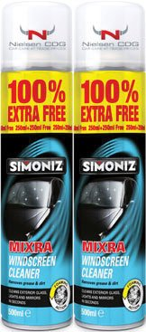Mixra Windscreen Cleaner SIM34-2 250ml Plus 100% EXTRA FREE - 2Pk