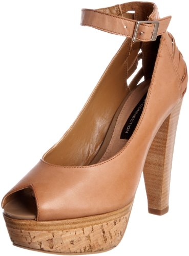 French Connection Women's Jiva Tan Ankle Strap Heel 1823933109 8 UK