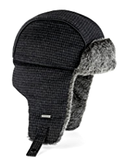 Autograph Checked Trapper Hat with Wool