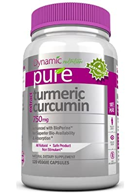 Turmeric Curcumin Extract with Bioperine, 1,500mg Per Serving, 120 Vegetarian Capsules. Pure Tumeric Supports Joint and Liver Healthy, Aging, Vision, and Is a Powerful Anti-inflammatory to Protect Your Body From Free Radical Damage. Tumeric Is an Overall