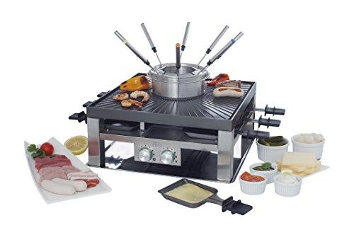 Solis 3-en-1 Partie Raclette, Fondue et Grill, Pas Besoin de Choisir
