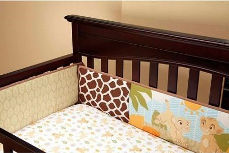 The Lion King Jungle Fun Secure Me Crib Bumper by Disney