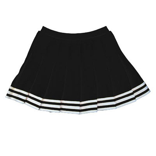 In Stock Elastic Waist Knife Pleat Skirt, Al, Black