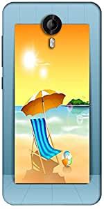 Snoogg Abstract Summer Background Designer Protective Back Case Cover For Micromax Canvas Nitro 3 E455