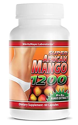 Super African Mango 1200 All Natural Weight Loss 60 Capsules Per Bottle