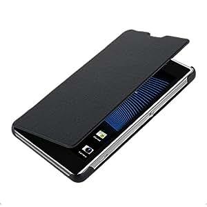 kwmobile Flip Case Hülle für Sony Xperia Z1 Compact - Aufklappbare Kunstleder Schutzhülle Tasche im Flip Cover Style in Schwarz