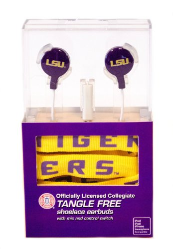 NCAA Licensed Shoelace Earbuds (LSU Tigers) at Amazon.com