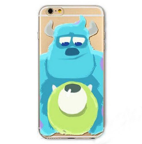 Apple iPhone 6 / 6s , Deco Fairy Protective Case Bumper[Scratch-Resistant] [Perfect Fit] Ultra Slim Translucent Silicone Clear Case Gel Cover (Blue Green Monsters) (Monsters Inc Cases For Iphone 5s compare prices)