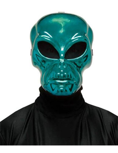 Alien Hockey Green Mask Halloween Costume - Most Adults