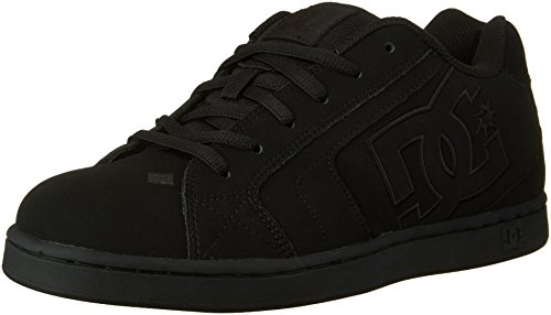 DC Men's Net Lace-Up Shoe, Black/Black/Black, 10 M US
