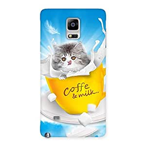Impressive Coffee Kitty Back Case Cover for Galaxy Note 4