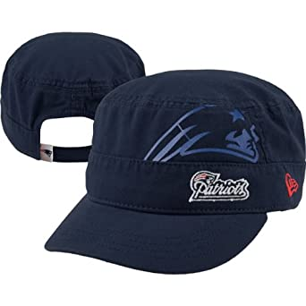 NFL New England Patriots Goal-2-Go Ladies Military Cap, Blue, One Size Fits All by New Era