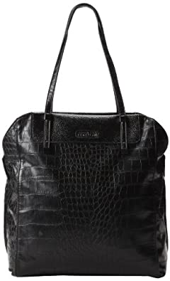 Kenneth Cole Reaction Stack Exchange Tote - Croco K00752 Travel Tote,Black,One Size