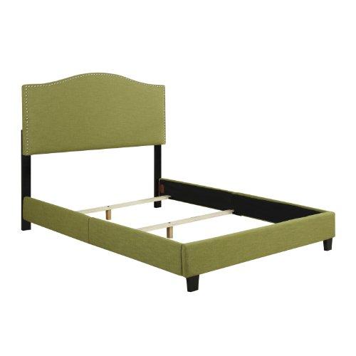 Handy Living NA BDQUN LIN62 02 Noleta Linen Bed Frame Set Queen Apple Hom