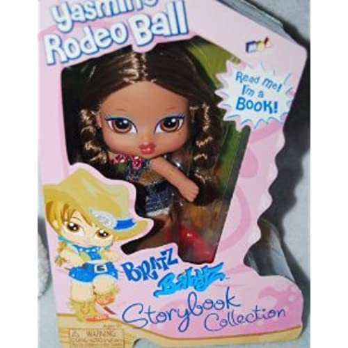 Bratz (  즈 ) Babyz Storybook Collection 5 Inch Doll - Yasmin's Rodeo Ball with Hairbrush and Story Book 돌 인형 피규어(병행수입)-