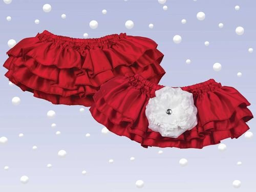 Bearington Baby Blooms Holiday Diaper Cover - 1