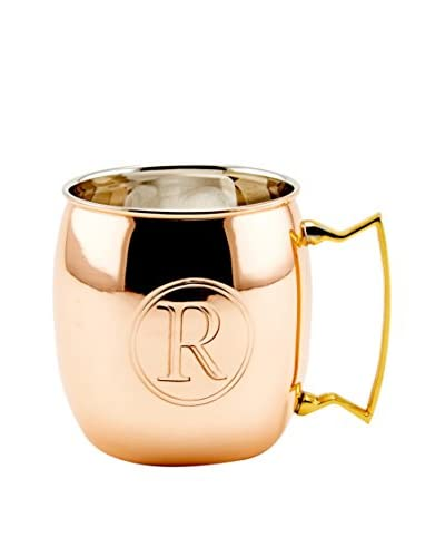 Old Dutch 16-Oz. Monogrammed Solid Copper Moscow Mule Mug, R