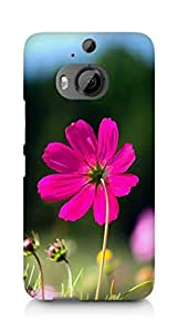 Amez designer printed 3d premium high quality back case cover for HTC One M9+ (Flower Red)