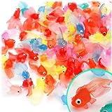 ★お急ぎ即日発送★ 縁日すくい やわらか ミニ金魚(約40mm) 100個入り 〔キャッシュバックキャンペーン対象商品〕