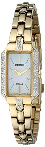 Seiko Solar Two-Hand Stainless Steel - Gold-Tone Women's watch #SUP236