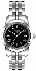 Women Watch Tissot T0332101105300 Stainless Steel Case and Bracelet Black Dial