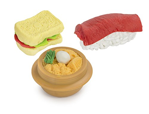 Japanese Food Triple Eraser Set - Styles May Vary